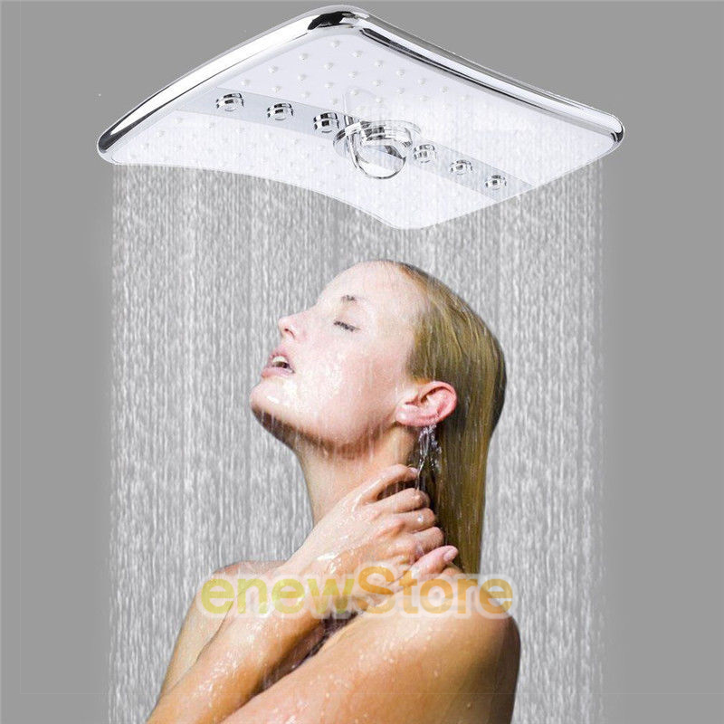 Luxury 4 Setting Massage Jets Mixed Fixed Handheld Shower Head Combo Set US SHIP