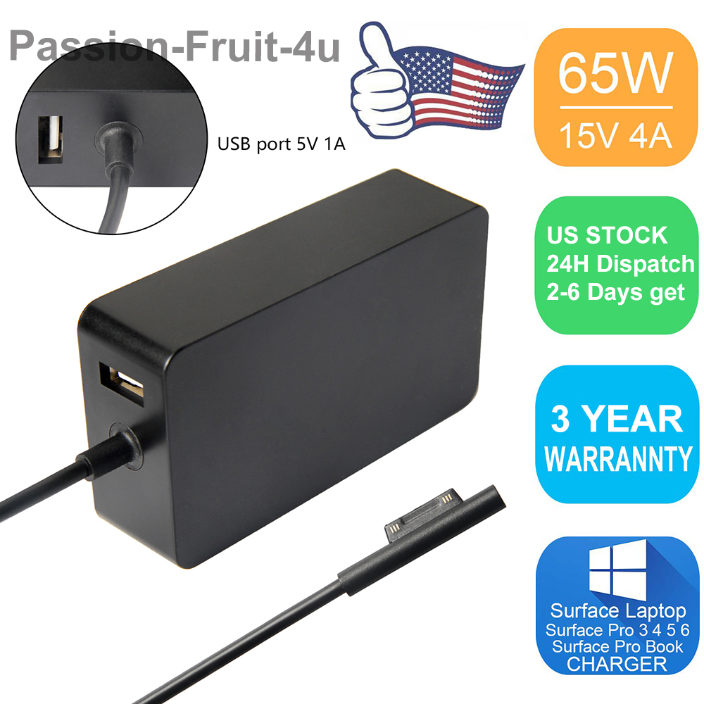 Adapter Power Supply for Microsoft Surface Pro 3 Surface Go Charge Cord with USB