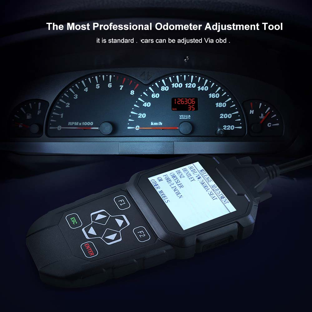 Details About Car Auto Odometer Reset Correct Mileage Adjustment Scanner Free Update