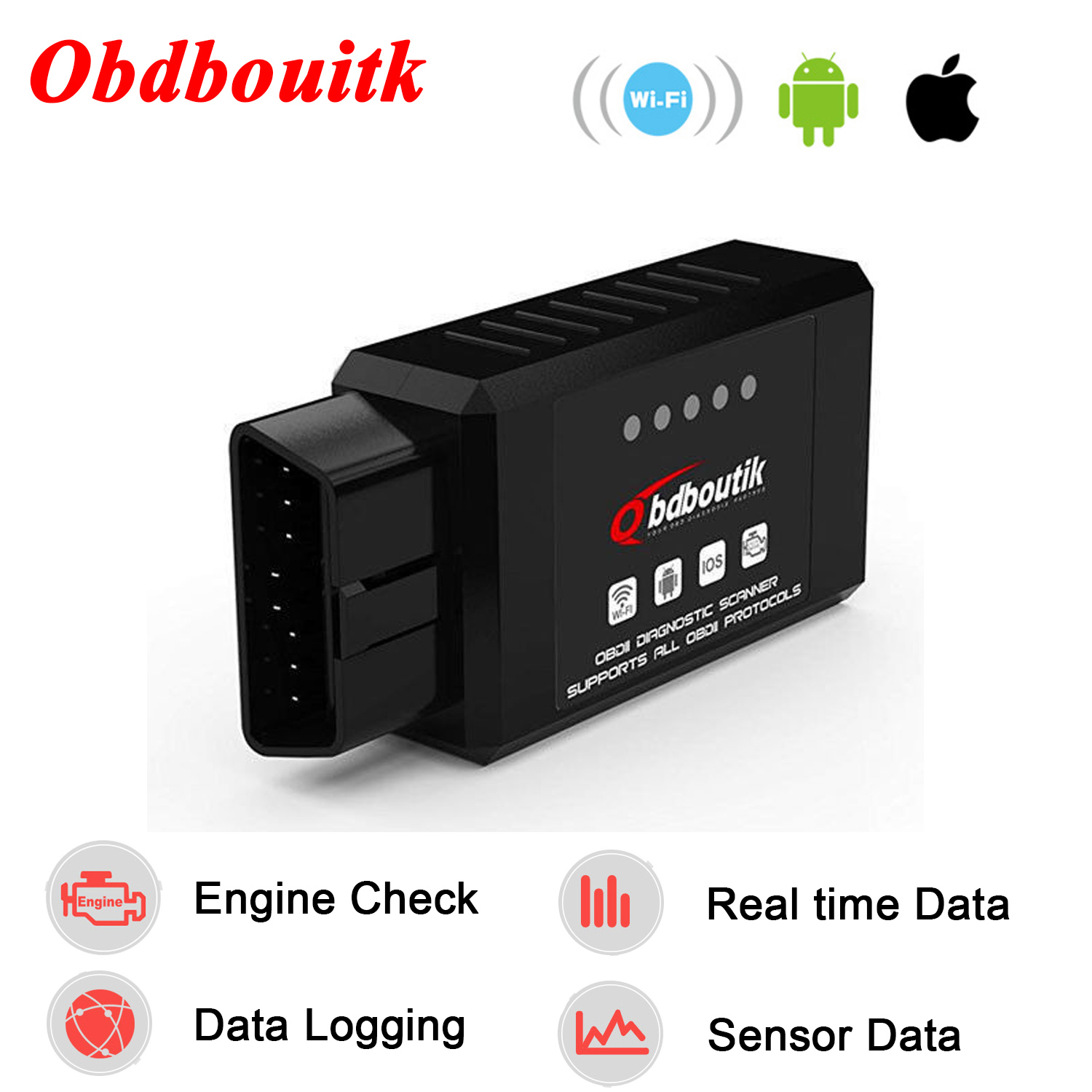 Details about Car OBDII Code Reader Adapter Check Engine Light tool wifi  for IOS and Android