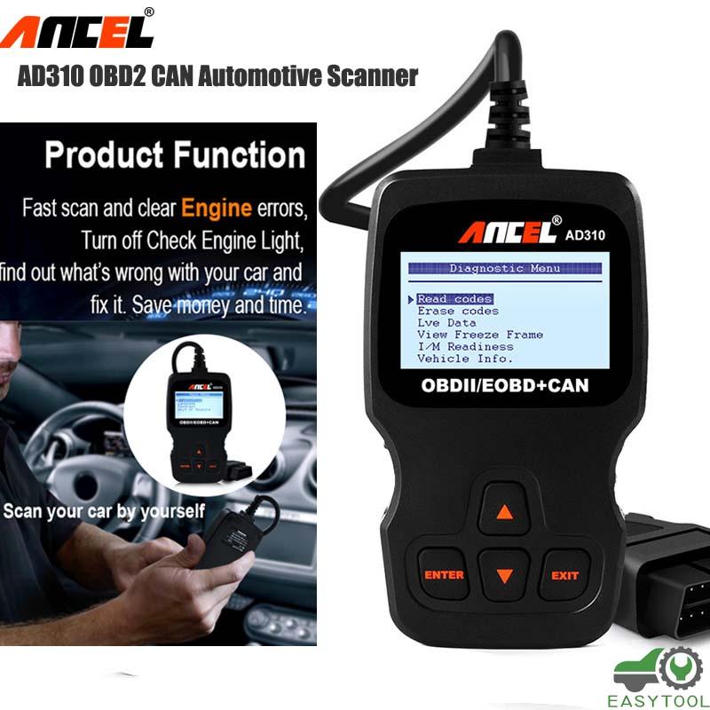 OBD2 AD310 Auto Scanner Car Diagnostic Live Data Code Reader Engine ...
