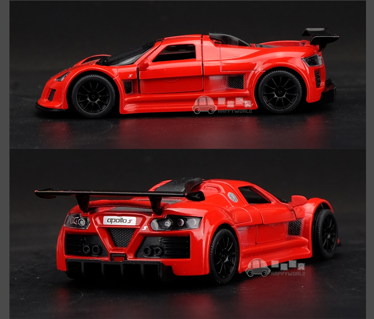 Apollo sports car 136 Alloy Diecast Open two doors Model car Gifts Red Toys New & Apollo sports car 1:36 Alloy Diecast Open two doors Model car ...