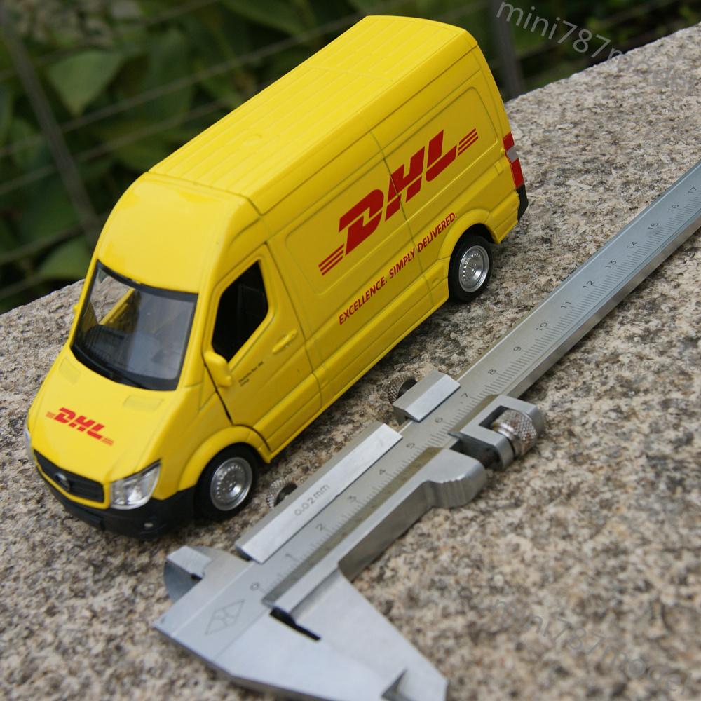 """Maisto Yellow Smart Fortwo Open Door Diecast Metal Car: Mercedes Benz Sprinter Van DHL Model Cars 5"""" Open Three"""