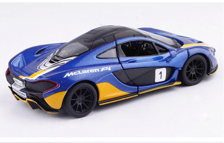 McLaren P1 Model Cars 1:36 Alloy Diecast 5 Inch Toys Collectionu0026Gifts Blue  New