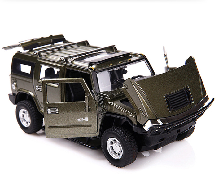 Hummer H2 Model Cars 1 32 Toys Alloy Cast Off Road Vehicles Sound Light Gifts