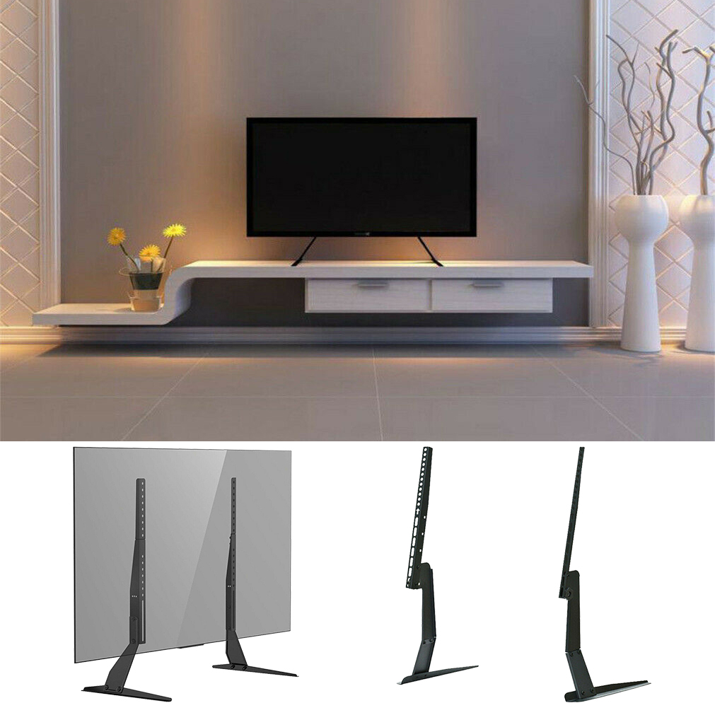 cheap for discount 8896d 879f0 Details about Universal Table Top Pedestal TV Stand Monitor Riser Fits  17-55 inch LCD LED TVs
