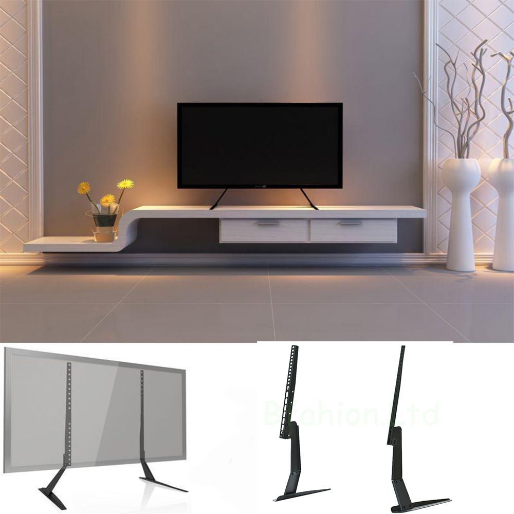 Tv Tables Big Tv Stand: Universal Table Top Pedestal TV Stand Monitor Riser Fits