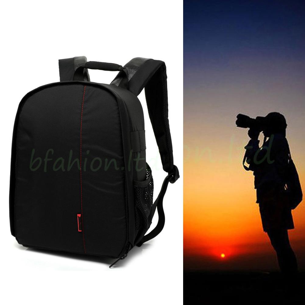 Waterproof Camera Backpack Bag Lens Case Rucksack For DSLR SLR Canon EOS Nikon 3