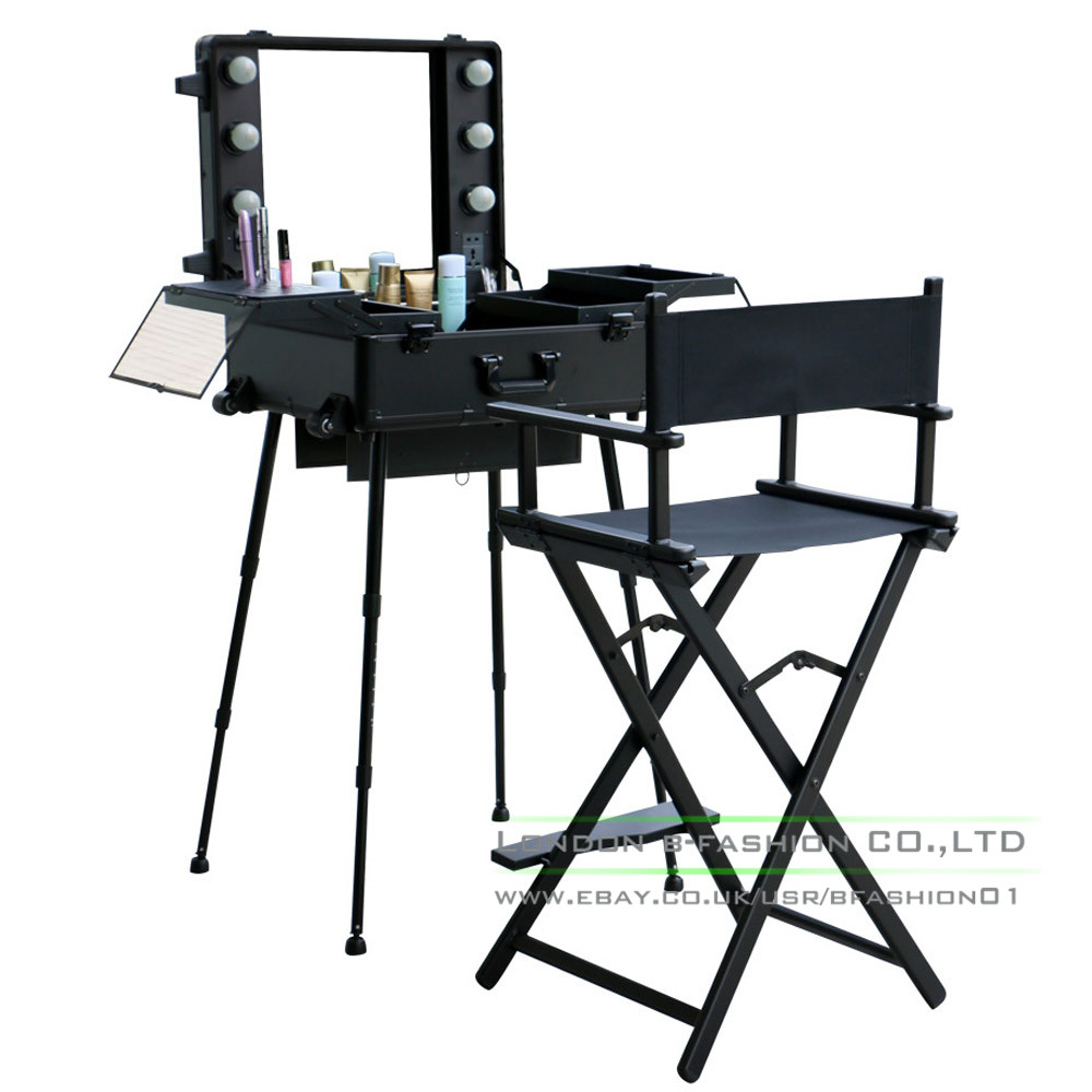 Professional Rolling Studio Makeup Artist Cosmetic Case