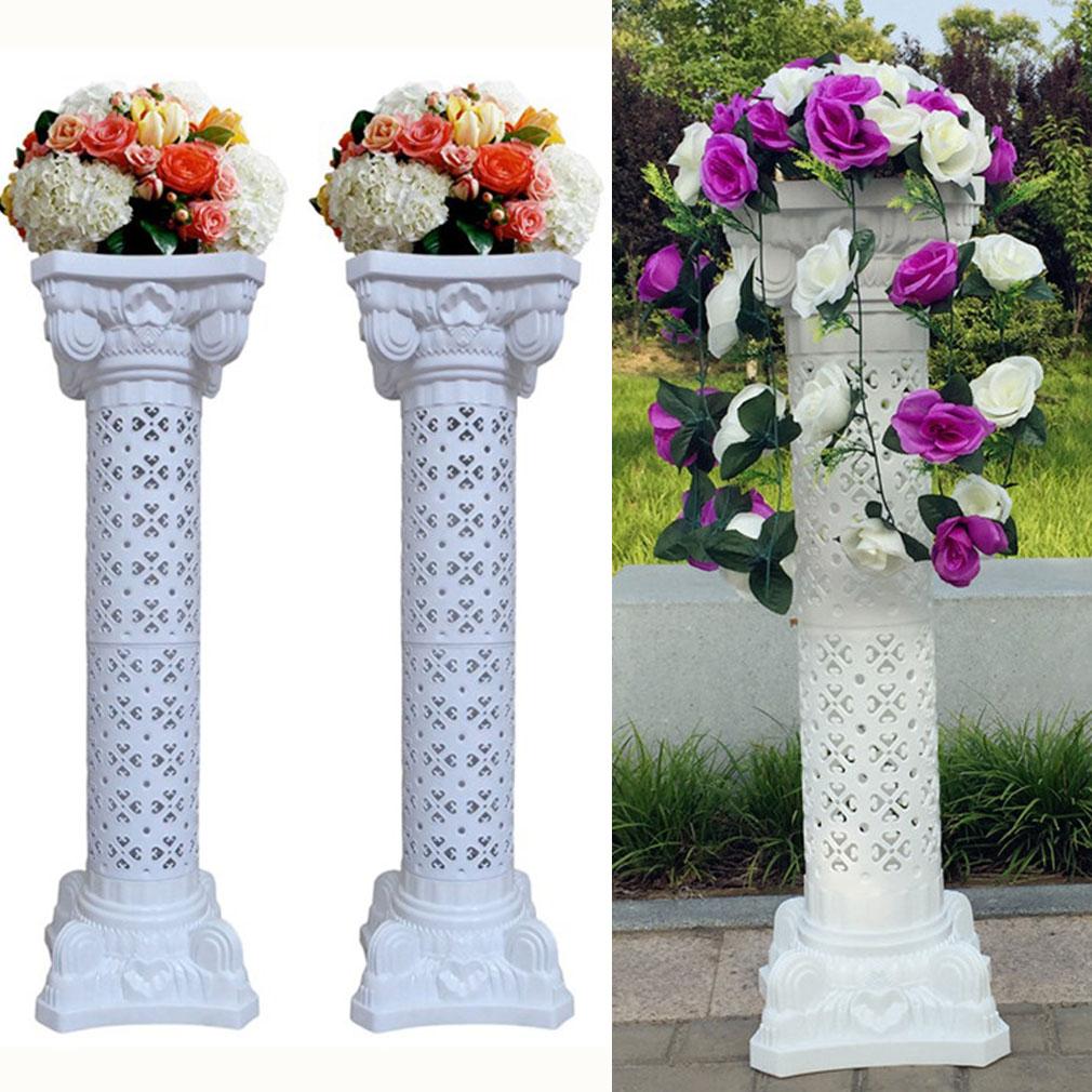2x Classic Pillar Plant Flower Stand Column Pedestal Pot