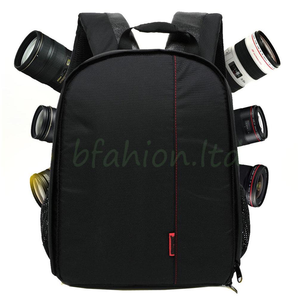 Waterproof Camera Backpack Bag Lens Case Rucksack For DSLR SLR Canon EOS Nikon 4
