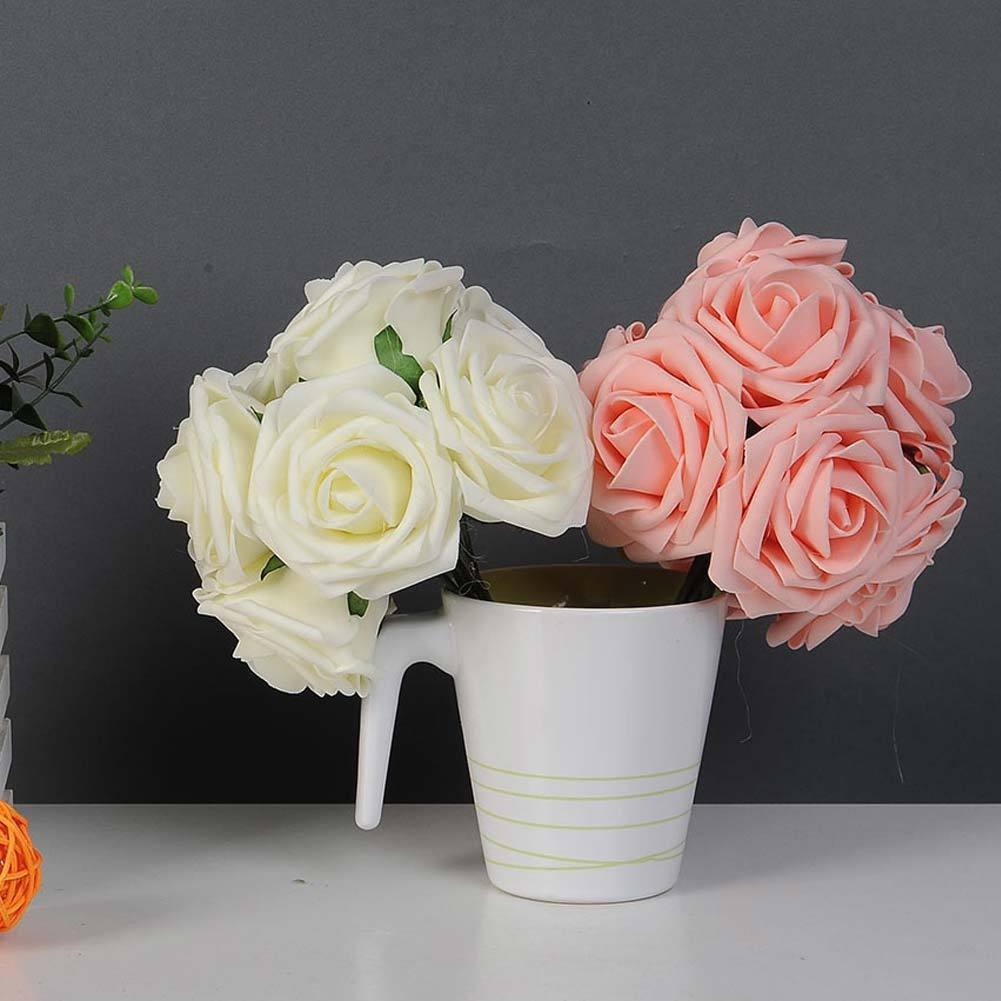 10 Pcs/ Bunch Artificial Rose Fake Flowers Wedding Bridal Bouquet ...