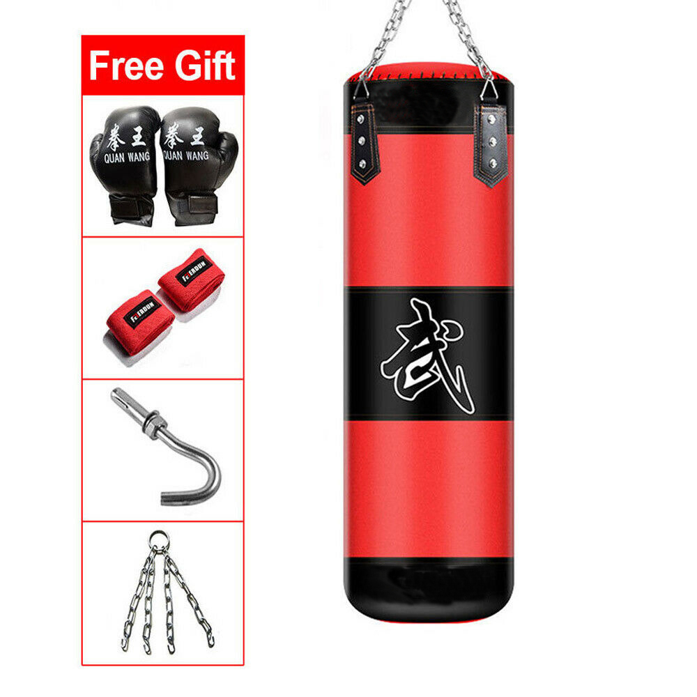 Details About Heavy Boxing Punching Bag 39 Sd Training Kicking Mma Workout W 2pcs Gloves