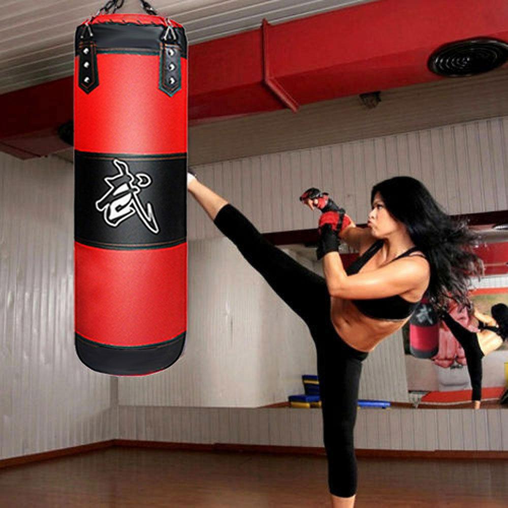 "39/"" 1+8 Heavy Bag Kit Gloves Wraps Boxing MMA Punching Training Exercise Fitness"