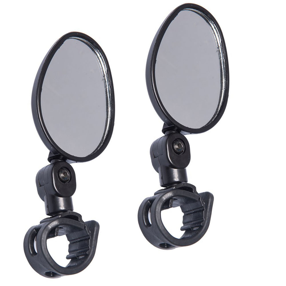 2Pc Bicycle Mirror Cycling Bike Looking Glass Handlebar Rearview Adjustable NEW