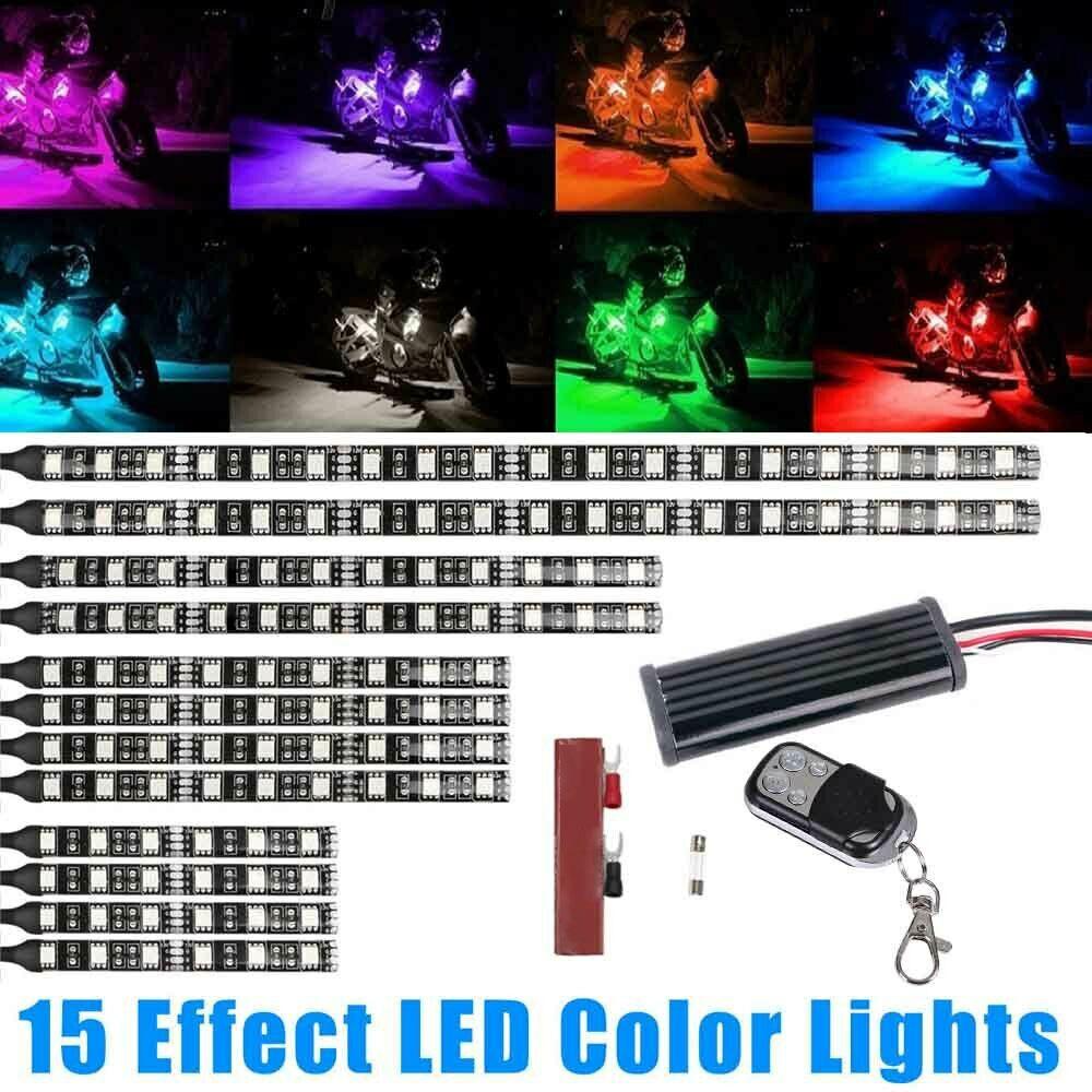 Car color kit - Image Is Loading 12pcs Multi Color Flexible Waterproof Strip Car Motorcycle