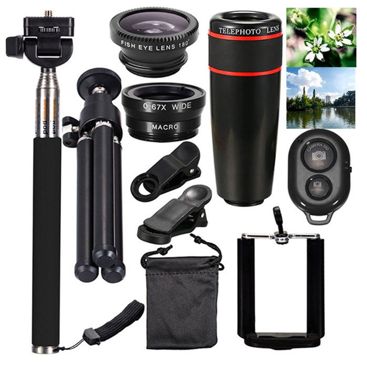 the latest 3476f b9008 Details about All Accessories Phone Camera Lens Top Travel Kit For iPhone X  Samsung S9 Note