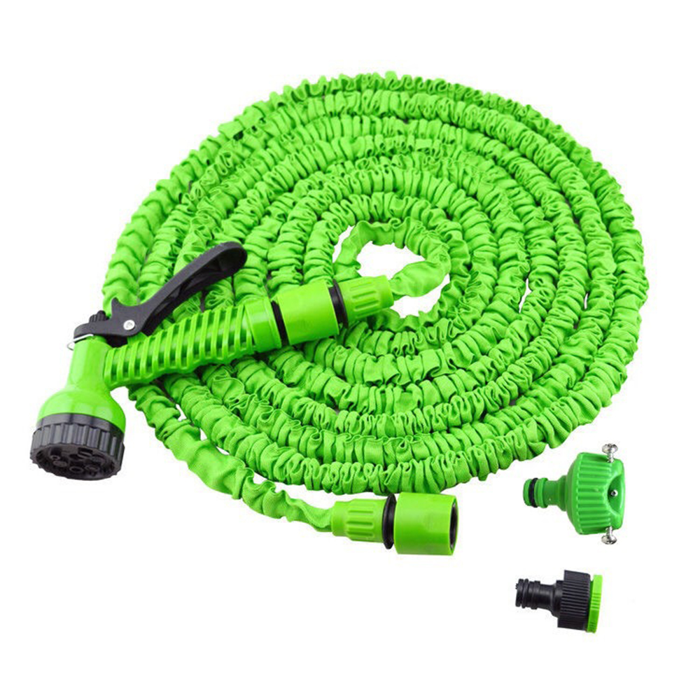 100 Feet 100FT Expandable Flexible Garden Water Hose+Spray Nozzle Green//Blue