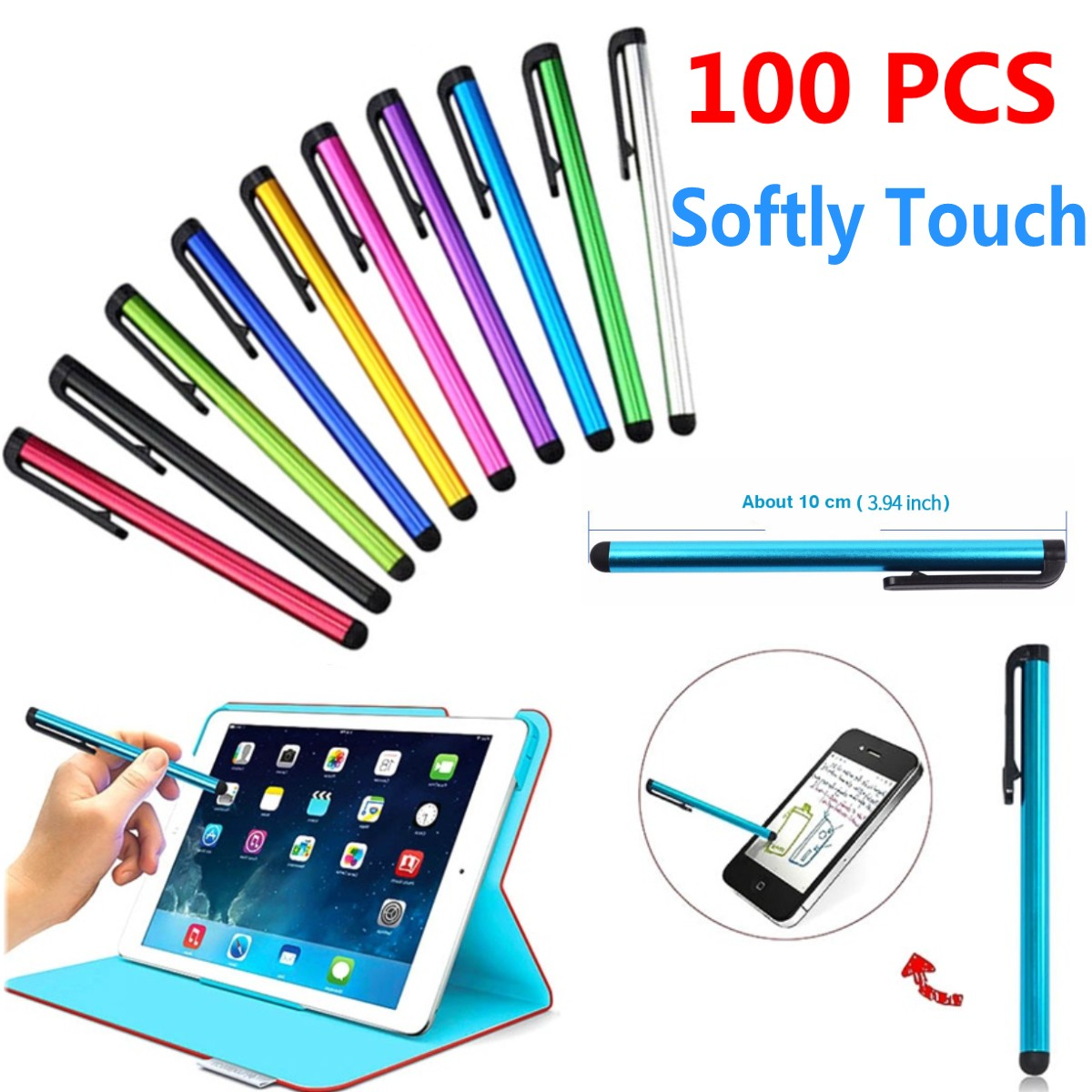 10 Pcs High Quality Stylus Touch Screen Pen for iPad Cellphone Tablet PC iPod