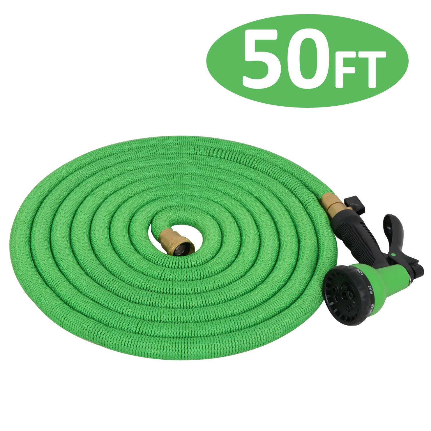 Picture 12 of 12  sc 1 st  eBay & Premium Retractable Water Garden Hose up to 50/75 Foot High Pressure ...