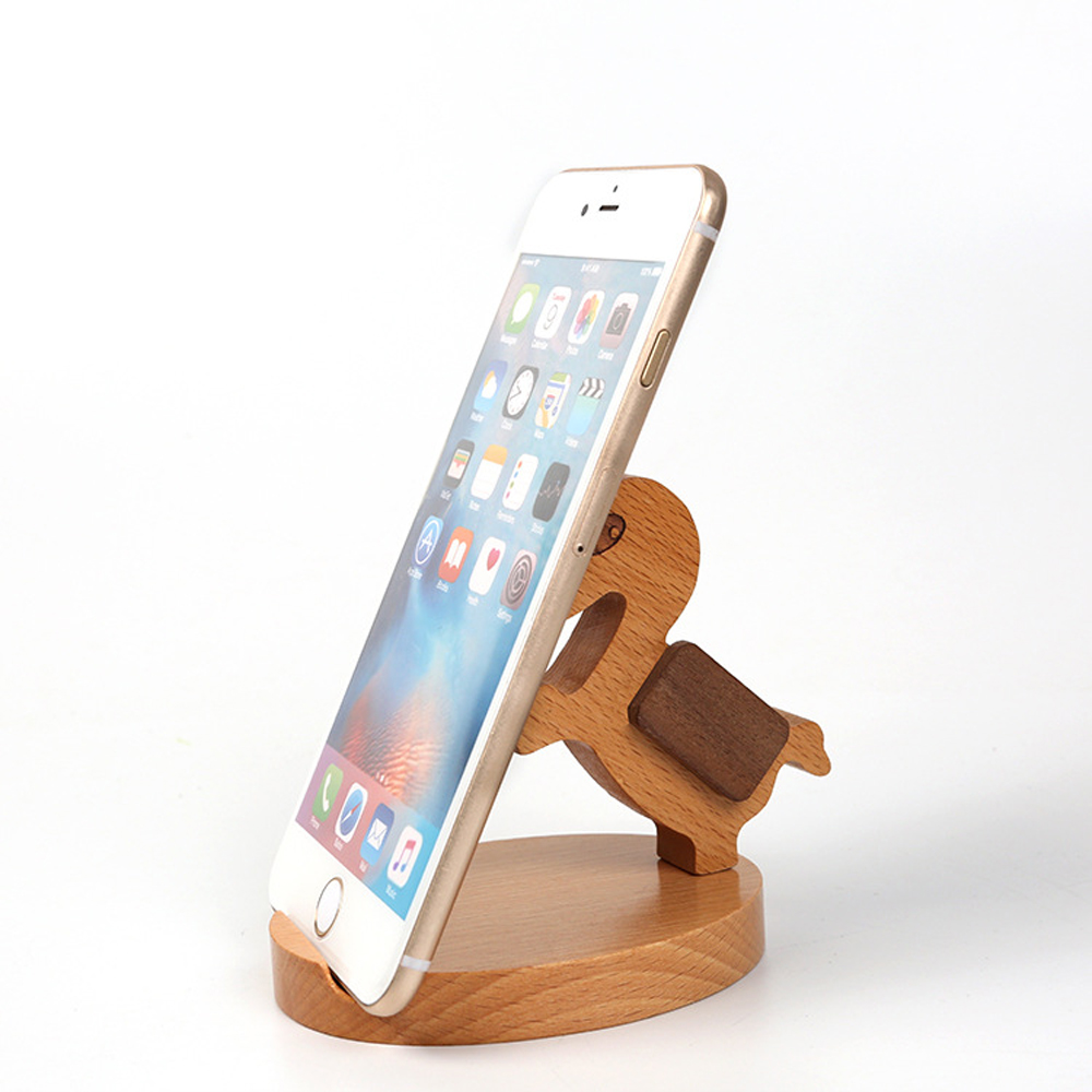 New For Iphone7 Samsung Galaxy S7 Edge Wooden Cell Phone Desk Stand Holder