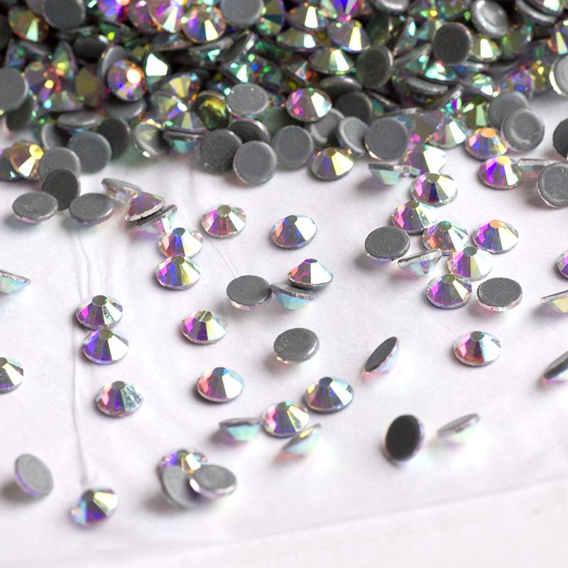 Crystal AB Iron on Hotfix Rhinestones Hot Fix Flatback Strass Stones ... c089f8773599