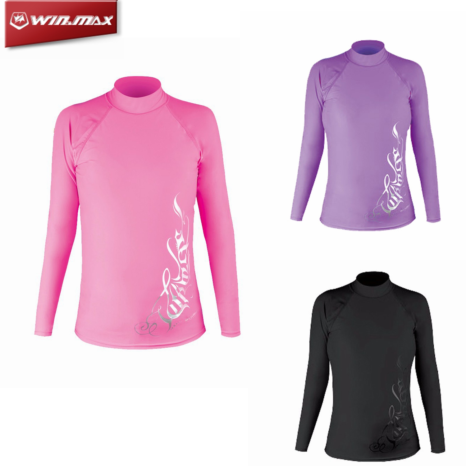 dc495735 Details about W Lycra Long Sleeve Wetsuit Shirt Scuba Diving Swimming  Surfing Rash Guard Women