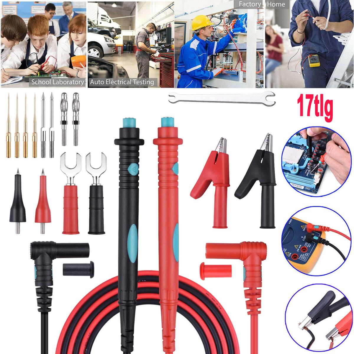Paar 10A 1000V Messkabel Messleitung Prüfkabel Digital Multimeter Test Pen Draht