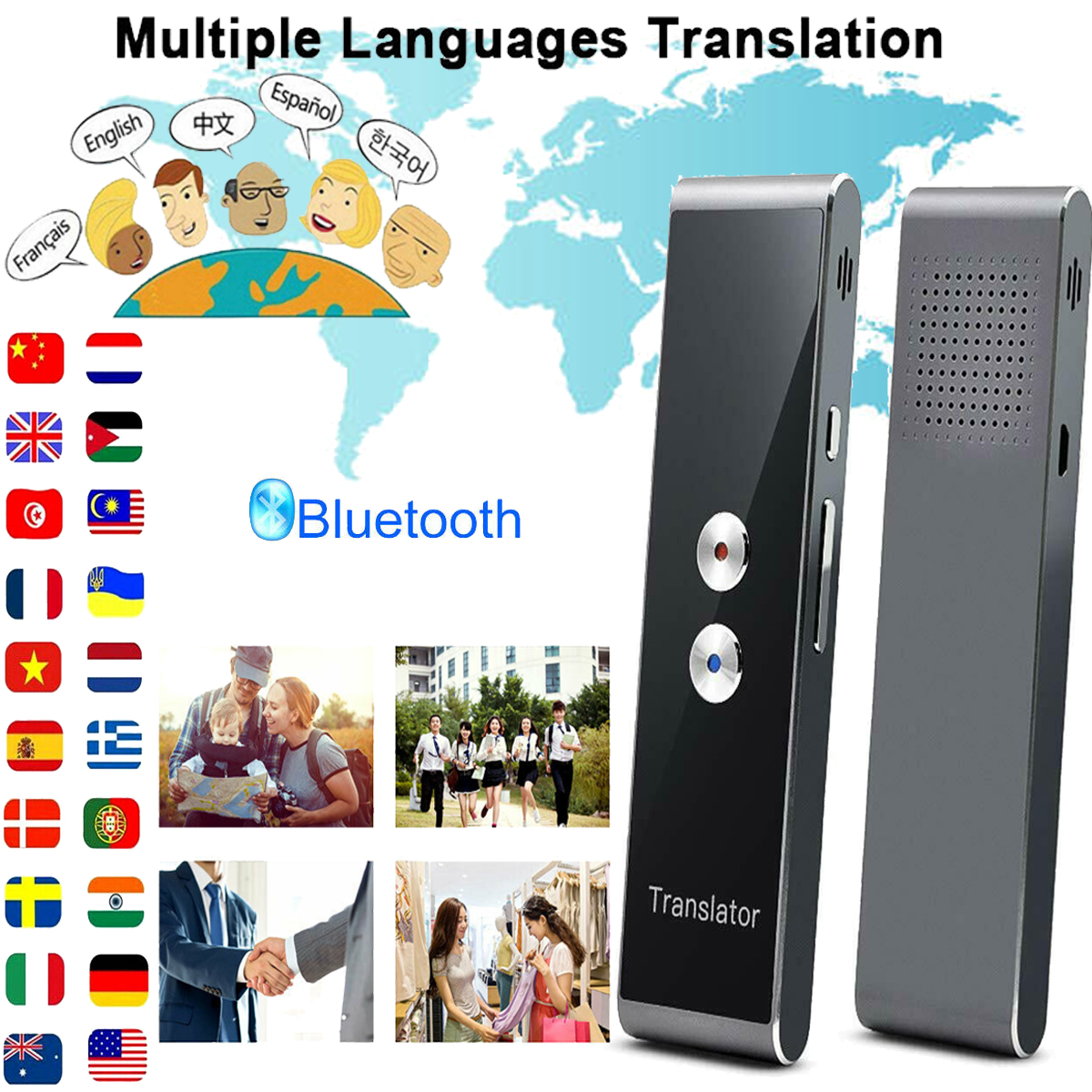 Translaty Enence Smart Instant Two-Way Real Time Voice 34 Languages