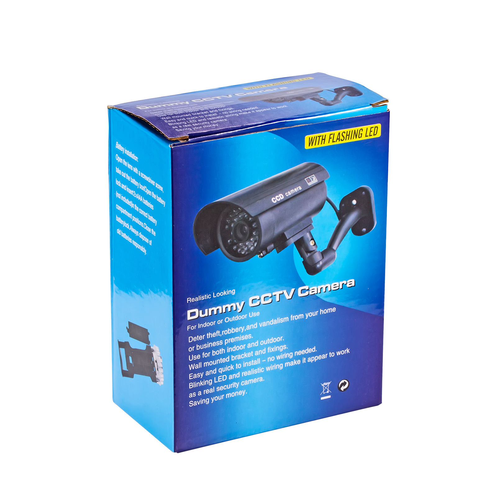 Silver Bullet Fake Dummy Surveillance Security Camera Cctv With Led No Wiring Track Lighting Some Screws