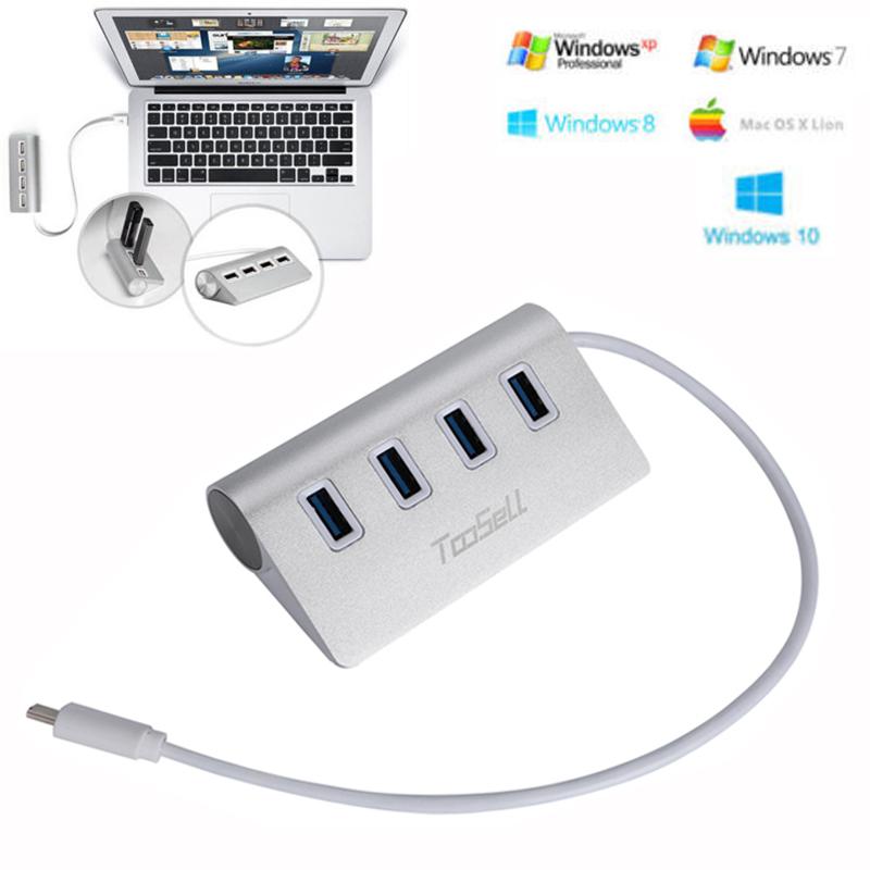 Mini 4-Ports USB 3.0 LED HUB Adapter 5Gbps High Speed For Windows 7//8//XP//MAC US