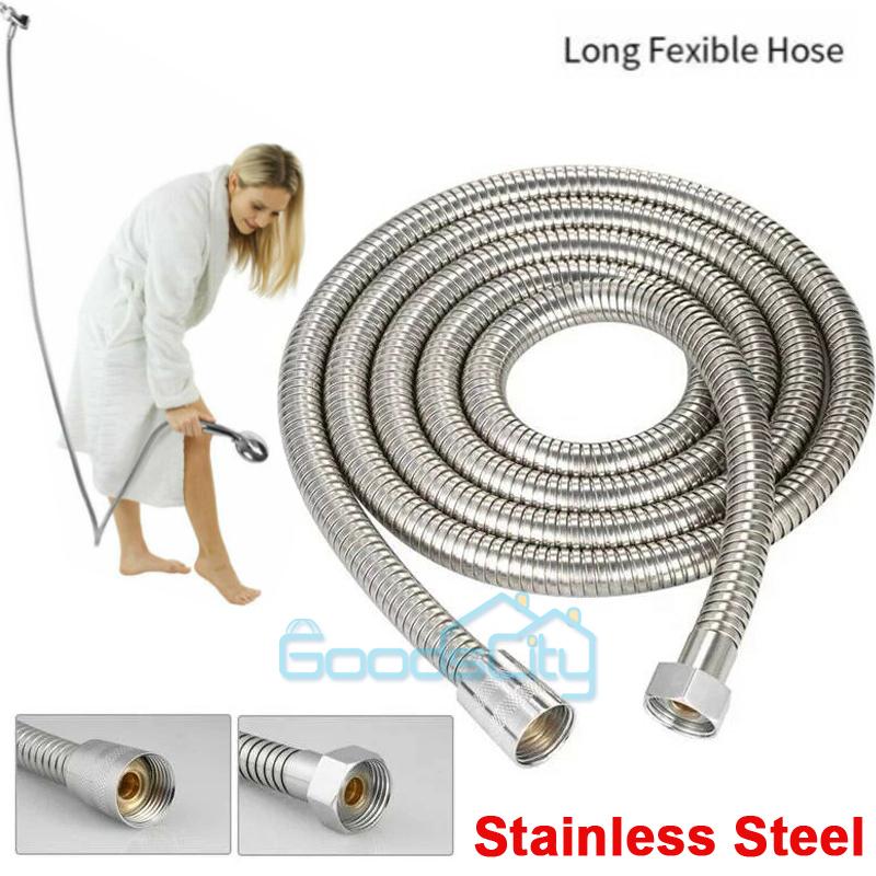 "10FT Shower Head Hose Handheld Extra Long Stainless Steel Bathroom Flexible 118/"""