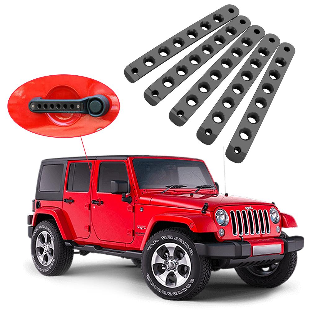 5door Handletailgate Aluminum Trim Insert 4 Door For 07 17 Jeep