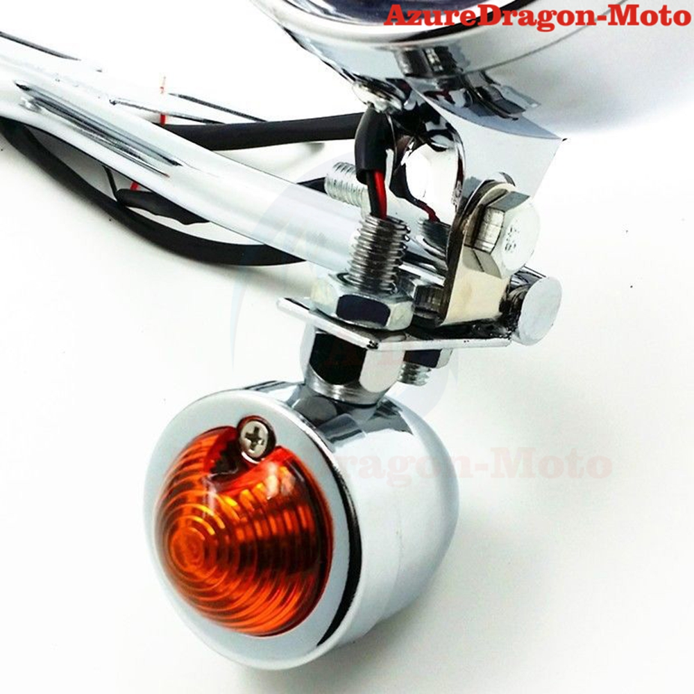 Chrome Motorcycle Driving Passing Bullet Turn Signal Spot