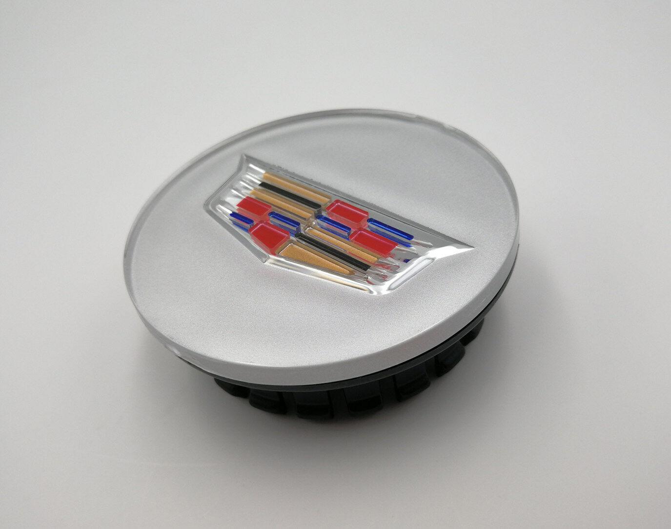 yunming 4pcs 65mm Car Accessories Emblem Badge Sticker Wheel Hub Caps Centre Cover Firt for Cadillac ATS CTS EXT SRX XTS XLR Silver