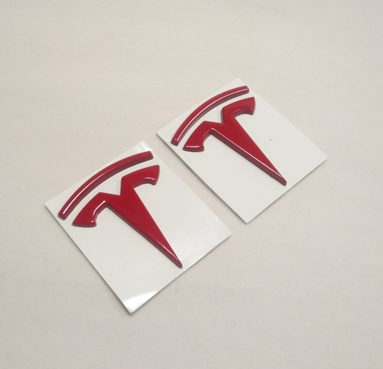 2pc Tesla Model 3 decal sticker for door on  badge logo badge emblems accessory