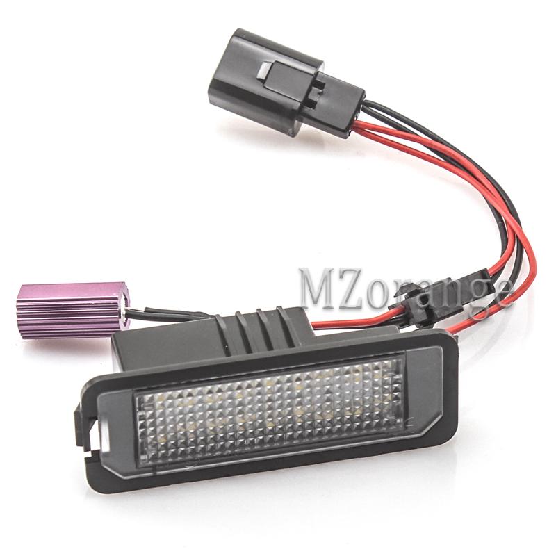 2x Error Free LED License Plate Light For Bentley