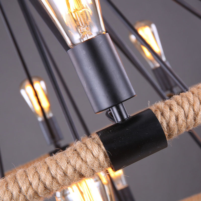 Restoration Hardware Like Light Fixtures: Rustic Rope Chandelier Hemp Pendant Light Restoration