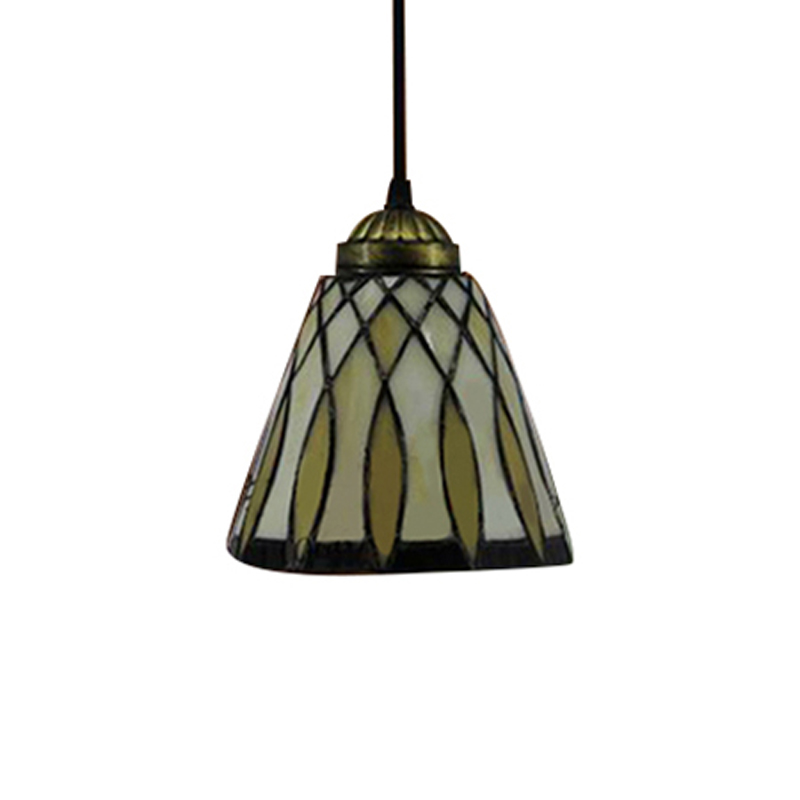 Tiffany Style Bell Shade Stained Glass One-light Mini ...