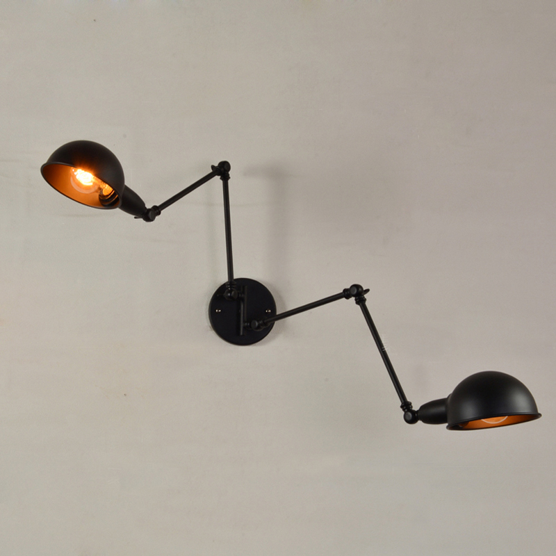 Double Wall Sconce Swing Arm Lamp