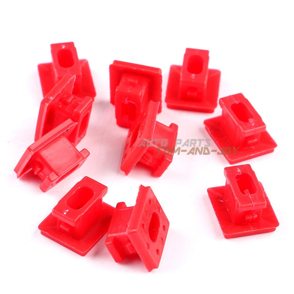 20 Dash Trim Grommet Door Panel Red Clips 51458266814 For
