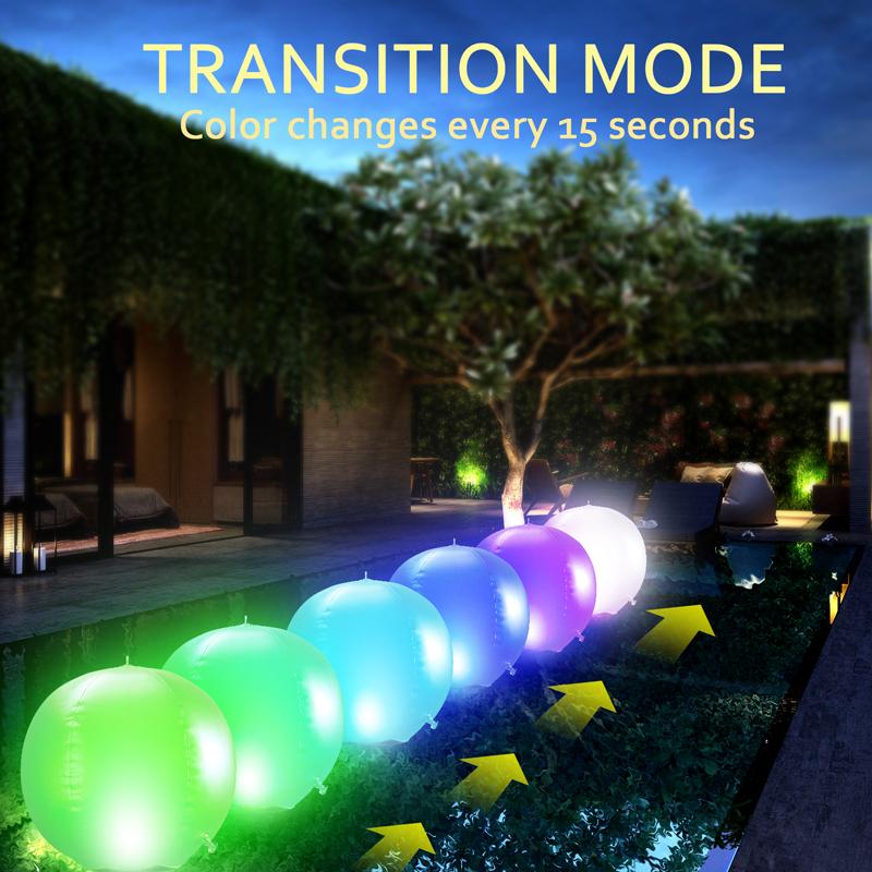 Outdoor Solar Powered LED Ball Pond Garden Path Landscape Hanging Light Lamp