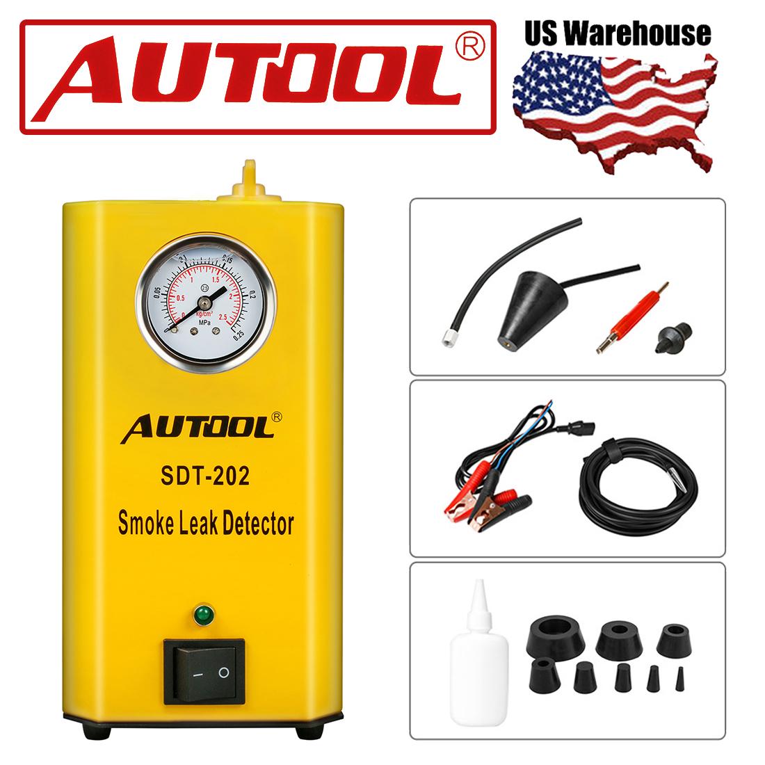 AUTOOL SDT-202 12V Car Smoke Leak Detector Smoke Machines PIPE EVAP Diagnostic