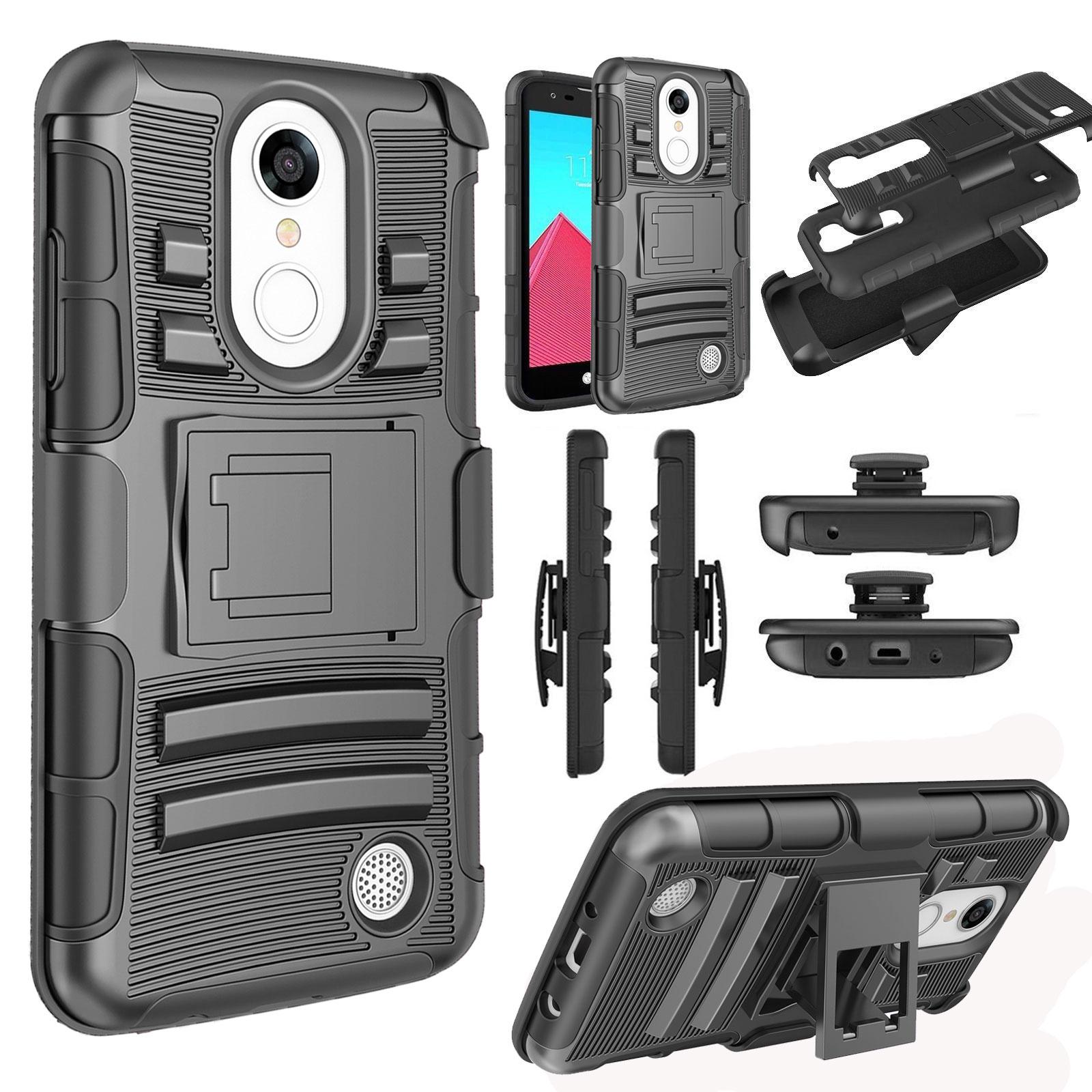 timeless design e2415 94c0d Details about Phone Case For LG K8 V K8V VS500 Verizon Defender Case +  Stand Belt Clip Holster