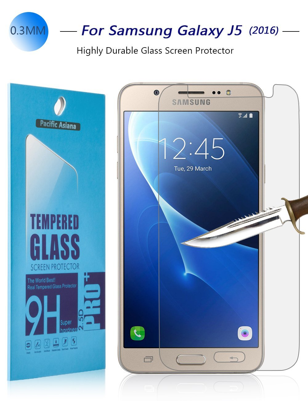 9HD Tempered Glass Screen Protector For Samsung Galaxy J5 (2016 Version)US stock