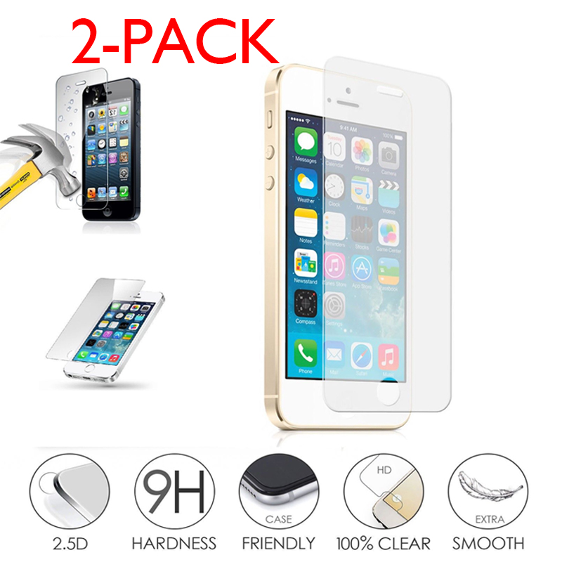 Glass Tempered Glass IPHONE 5 5s 5se 5c anti Breaks Protective Films Authentic
