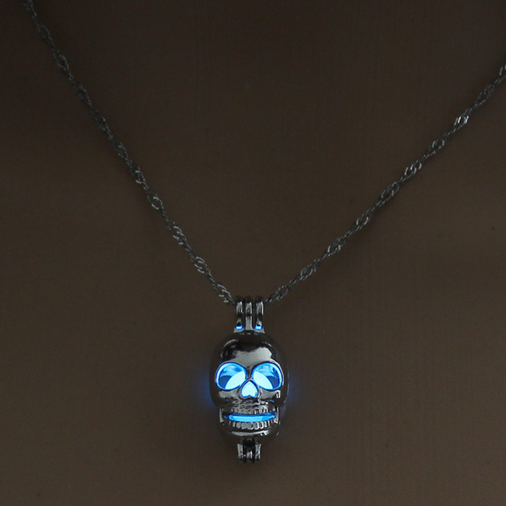 chain pendant heart loud glowing gothic necklace hollow dark silver in necklaces products jewellery jewelry moon proud the n glow plated moonlight choker