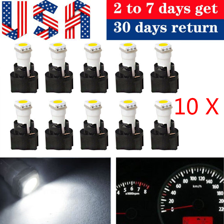 10 T5 Twist Socket Instrument Panel Cluster Dash Led Lights Bulbs 17 73 74 Red