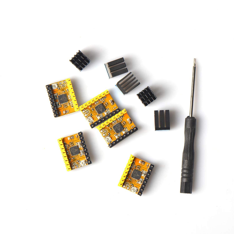 TMC2208 Stepstick Stepper Motor Driver for 3D Printer Motherboard 5PC//Set Eryone