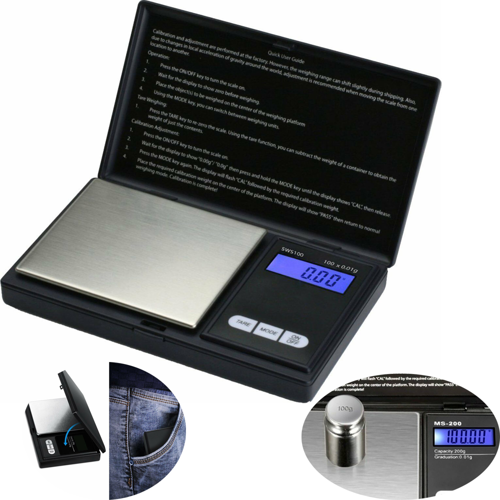 100Grams/_UK Small mini pocket digital electronic weighing weight scale 0.01g